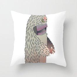Space Yeti Throw Pillow