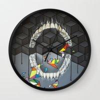 teeth Wall Clocks featuring Teeth by VikaValter