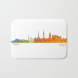 Tokyo City Skyline Hq V1 Bath Mat