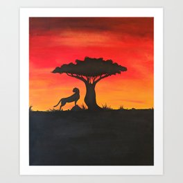 Moment of Solitude Art Print