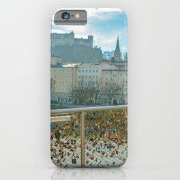 Lock Bridge Salzburg Castle Austria iPhone Case
