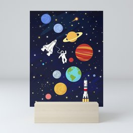 In space Mini Art Print