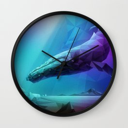 Leviathan (Multi-Blue) Wall Clock