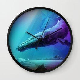 Leviathan (Multi-Blue) Wall Clock