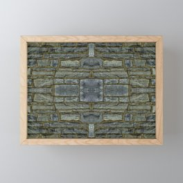 Stone Wall Framed Mini Art Print