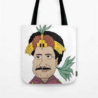 tim shumate Tote Bags featuring Tim MAIA by Danyllo Franco