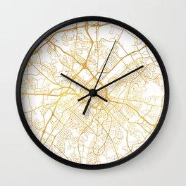 CHARLOTTE NORTH CAROLINA CITY STREET MAP ART Wall Clock