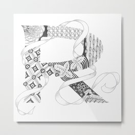 "Zenletter ""R"" Metal Print"