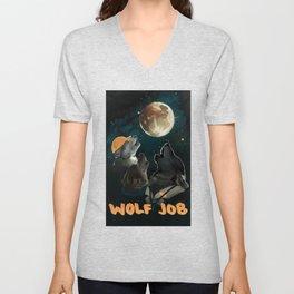 Wolf Job Unisex V-Neck