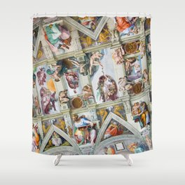 The ceiling of the Sistine Chapel Shower Curtain