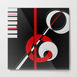 Black and white meets red version 28 Metal Print