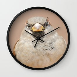 House Sparrow Wall Clock