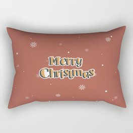 Happy New Year Merry Christmas winter holidays icon set with cute cartoon pattern Rectangular Pillow