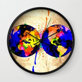 Earth Grunge Wall Clock