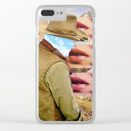 Cowboys Almost Always Die Alone Clear iPhone Case