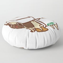 Puglie Pugkin Spice Latte Floor Pillow