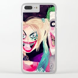 Joker and Harley Quinn Clear iPhone Case