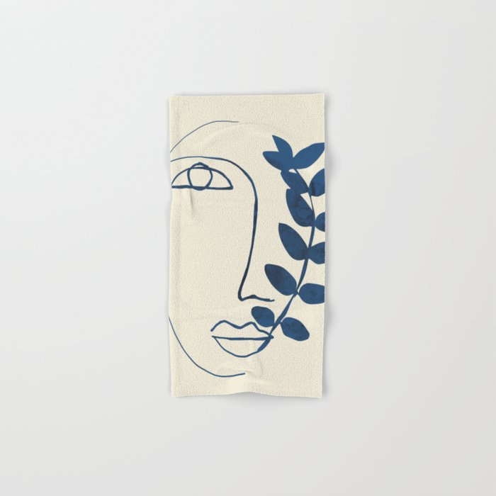 Abstract Face 5 Hand & Bath Towel