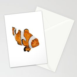 poisson clown Stationery Cards