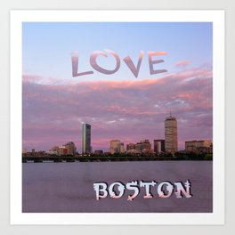 Love Boston Art Print