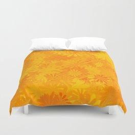 Golden Flower Dayz Duvet Cover