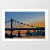 dumbo Art Prints featuring DUMBO   by Through the Eyes of my Lens