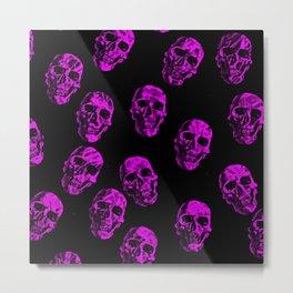 Purple Skulls Metal Print