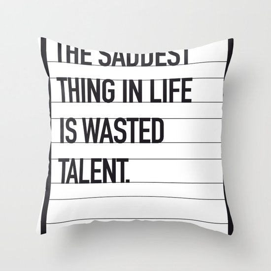 My Bronx Tale Movie Quote poster Throw Pillow