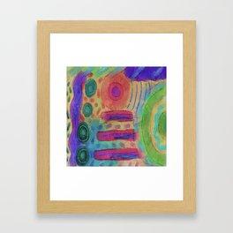 Original Abstract Digital Painting Framed Art Print