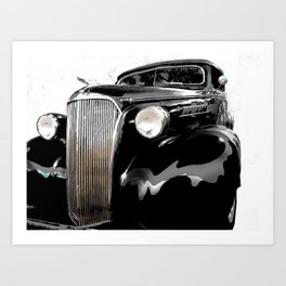 shiny black fenders Art Print