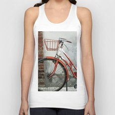 Red bicycle Unisex Tank Top