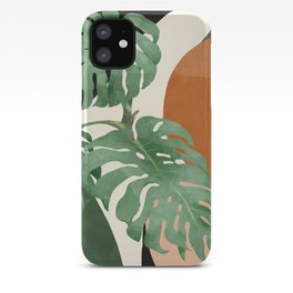 Tropical Leaves- Abstract Art  iPhone Case