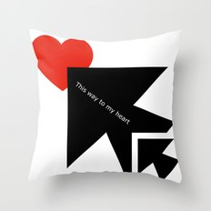 Black and white meets red version 24 Throw Pillow