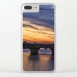 Sunset in Prague Clear iPhone Case