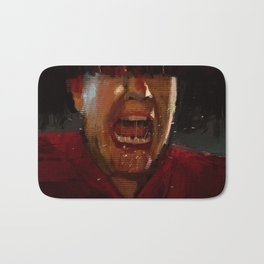 Man screaming texture illustration painting Bath Mat