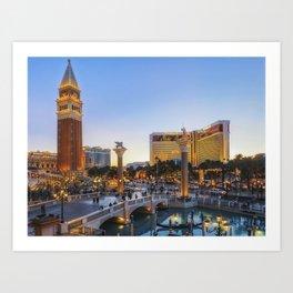 Venetian Hotel Plaza, Las Vegas Art Print