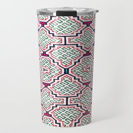 Song for Good Work - Traditional Shipibo Art - Indigenous Ayahuasca Patterns Travel Mug