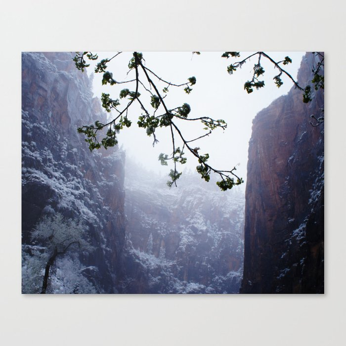 Secret Snow Mountain (crop) Canvas Print