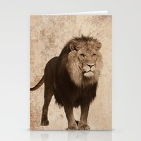 decal Stationery Cards featuring Lion by haroulita