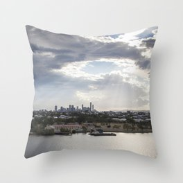 Shine on Brisbane Throw Pillow