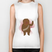 chewbacca Biker Tanks featuring chewbacca by Lalu