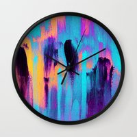 paradise Wall Clocks featuring Paradise by Elisabeth Fredriksson