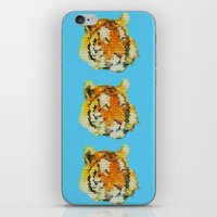 tigers iPhone & iPod Skins featuring Tigers by Nahal