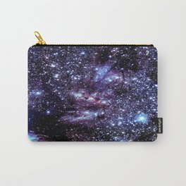 GalAXY : Blue Periwinkle Purple Stars Carry-All Pouch