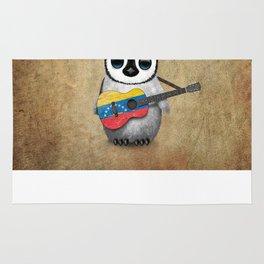 Baby Penguin Playing Venezuelan Flag Guitar Rug