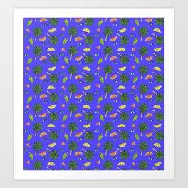Archie & Co. Sophie Print (Electric Blue) Art Print