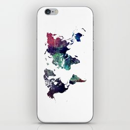 Map of the World After Ice Age iPhone Skin