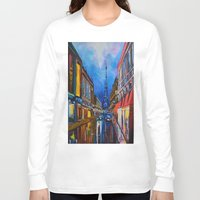 eiffel Long Sleeve T-shirts featuring Eiffel Tower Street by ArtSchool