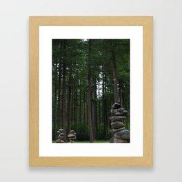 Stacking Rocks 2 Framed Art Print