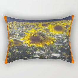 Butterfly and Sunflowers Rectangular Pillow